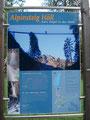 unsere Tour fand beim Ausgangspunkt an den Informationstafeln ...
