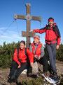Das obligatorische Gipfelfoto unseres Trios, von links: Sabine, Gerli und ..... ich .... Wizi.