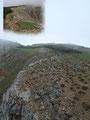 Eingangs noch geglaubt es handle sich um den Gipfel des Gößecks so wussten wir das wir geradewegs am Gipfelhang der Kahlwandspitze unterwegs waren. Der Wandersteig verläuft an dieser Stelle direkt an den Nordabstürzen der Kahlwandspitze entlang ...