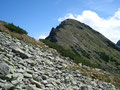 Eine weitere Geröll-Lawine mit wunderbarem Blick auf den Kleinen Griesstein (2175m) galt es zu queren, bevor …