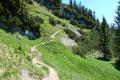 Nun folgte ich dem Steig Nr. 835/95 in nordöstliche Richtung dem 112m höheren Peterköpfl entgegen. Mir trieb es schon das Grinsen ins Gesicht als ich die beiden Deutschen vor mir erkennen konnte.