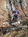 Zum Abschluß noch einmal eine kurze Leiter zum Ausstieg aus der Hahnlerstiege. Sieht aber spektakulärer aus als es in Wirklichkeit ist.