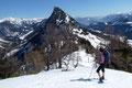 Gabi verharrte nochmals kurz und stand plötzlich wie angewurzelt da! Sie schenkte dem imposant wirkendem Hechlstein (1814m) besondere Aufmerksamkeit. Ein Gipfel mit leichtem Klettersteig der heuer noch auf der Liste steht.