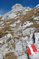 Gleich hinter den beiden Türmen, in der Rosskarscharte mündete der heraufziehende Normalweg aus dem gerölligem unterhalb liegenden Rosskar ein.