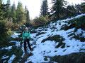Auf der Nordseite liegen sogar noch Schneefelder