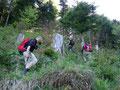 Und so hieß es querfeldein zurück zum eigentlichen Wanderweg zu finden. Nicht immer ein ganz so leichtes Unterfangen. Der dicht verwachsene Berghang hatte so seine Tücken.