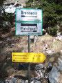 ... zu unserem primären Tagesziel, dem Mahdlgupf angekommen. Wir wanderten hier links entlang ...