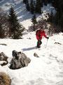 ... bevor es so richtig knackig steil nach oben Richtung Gipfelkreuz ging.