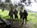 An dieser Stelle entstand dann dieses nette Gruppenfoto. Es war nun nicht mehr weit auf den Feuerkogel ...