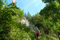 … über welchem wir fast in der Direttissima zur schön gelegenen Kienthalerhütte (1380m) anstiegen.