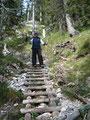 ... die letzte Holztreppe