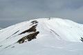 Bis auf den letzten leichten Anstieg vor dem Gipfelkreuz zog sich der etwa 1km lange Gratverlauf fast eben vom Haldenstein herüber.