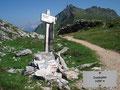 … Zachsattel. Der Höhenunterschied von 100m ab Hütte war relativ schnell bewältigt.