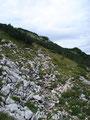 ... bevor es die letzten 150 Höhenmeter bis zum Gipfel hinaufging.