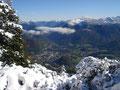 Unten im Tal liegt der Kurort Bad Ischl