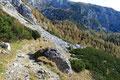 Viele andere Wanderer machten sich nun ebenfalls an den Abstieg.