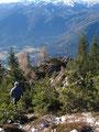 Diesen nach 1 Std. 50 Min.erreicht, mußten wir feststellen, daß das Gipfelkreuz nicht am höchsten Punkt stand. Wir machten uns natürlich sofort an den ca. 30m Abstieg zu diesem.