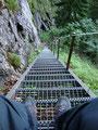 ... erreichten wir die, aus vielen vorangegangenen Touren, altbekannte Eisentreppe. Für mich Grund genug mal zurück zu blicken.