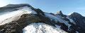 … mich schlussendlich zum Ausstieg auf den freien Kammbereich des Unteren Fochezkopf (3023m) brachten. Jetzt eröffnete sich zum ersten Male ein atemberaubender Blick auf die beiden Bratschenköpfe und die Klockerin.
