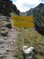 Etwa 50 Min. dauerte die lange Südquerung des Großen und Kleinen Griessteins bis zu diesem Knotenpunkt. Mein nächstes Ziel auf der Landkarte war somit das Gasthaus Berghube.
