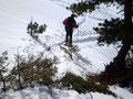 """Nach sonnenbaden pur und einer ausgiebigen """"Gipfelrast"""" machten wir uns über dieselbe Route an den Abstieg."""