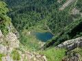 Immer wieder hatte man auch solch tolle Tiefblicke auf einen der unzähligen Seen.