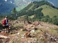 ... ,schwer zu begehenden Berghang hinunter gemeistert ...