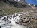 … machten wir uns wieder an den Abstieg zur Stablein-Bergstation, …