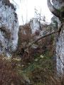 ... und anschließend steil bergauf durch die Loitzkluft auf den Trisselsattel (1100m).