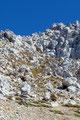 Unten angekommen - wie konnte es anders sein – blickte ich nochmals zurück auf den Gipfel. Die Steilheit kommt aber hier nicht wirklich zur Geltung!