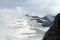 Rundum waren wir vom Eis und Schnee umgeben! Der Ausblick war einfach überwältigend und reichte bis hin zu unserem Quartier, der Oberwalderhütte.