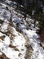 Je weiter ich hochkam desto mehr Schnee hatte ich an vereinzelten Passagen vor Augen.