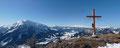 Nach wenigen Schritten erreichten wir schlussendlich das Gipfelkreuz des Gwendlingsteins und durften uns über die überraschend schönen Ausblicke des Gipfels erfreuen. EINFACH EIN TRAUM!!! Berg Frei!