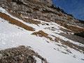 Bevor ich aber diese Freuden genießen konnte, mußte ich erst mal dieses Schneefeld überqueren.