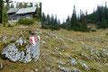 Unsere Route führte weiter über eine Wiesenfläche, vorbei an einer unterhalb des Hasenfußes liegenden urigen kleinen Jagdhütte (1560m), bevor...