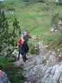 ... erreichten wir zum wiederholten Male an diesem Tage eine Felsstufe.