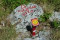 """Keine 10m vom Pfeil entfernt befand sich dann doch für mich überraschend der höchste Punkt des """"aussichtsreichen Hügel"""". Nicht zu vergessen, trotz allem 612m Höhenunterschied vom Meeresspiegel!"""