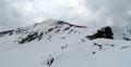 … von welchem der Steig über den zum Teil abgeblasenen Westrücken zum Gipfel des Gumpenecks leitete.