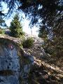 ... die letzten Meter etwas steiler den Bergfelsen hinauf ...