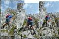 """… und schon waren wir beim Kriterium der heutigen Bergtour auf den """"Kammspitz (2139m)"""" angekommen. In einer leicht ausgesetzten Kletterei ging es nahezu senkrecht nach oben."""