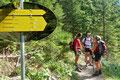 So wandten wir uns kurz und bündig, nach einer Beratung, gleich dem zum Klosterwappen führenden Waldsteig zu.