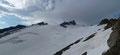 … von welchem aus der Aufstiegsweg zwischen Hohen Aderl (links) und Rainerhorn bestens auszumachen war.