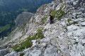 …  der Steigverlauf schlussendlich in das nordostseitige schutterfüllte steile Kar abdrehte.