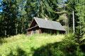 Das gleiche Prozedere ein weiteres Mal! Forststraße – vorbei an einer Jagdhütte und …