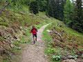 Während wir auf der Hütte waren hatte es aus Kübeln geschüttet und wir nutzten deshalb die Regenpause für einen eher schnelleren Abstieg, man könnte es auch fast schon als Laufschritt bezeichnen.