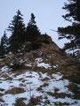 Nur noch der letzte steile Anstieg trennte mich vom nächsten Gipfelglück.