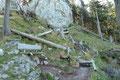 Dieser freie Blick wurde natürlich vom nächstfolgendem Rastplatzl ebenfalls optimal ausgenutzt. Kurz genoss auch ich den Fernblick ins Salzburger-Land, bevor …