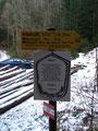 Die heutige Winterwanderung nahm ihren Ausgang beim Parkplatz Hamberg. Schon zu Beginn war der Weg äußerst gut markiert ...