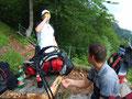 ... und Andreas konnte seine kleinen Wehwehchen vom ungewohnten steilen bergaufwandern behandeln.
