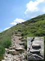 Über den breiten Kammrücken eilte ich weiter zur Gasselhöhe empor. Künstlich angelegte Steinstufen sollten beim Aufstieg helfen, jedoch total unnötig – aber dafür witzig!!!